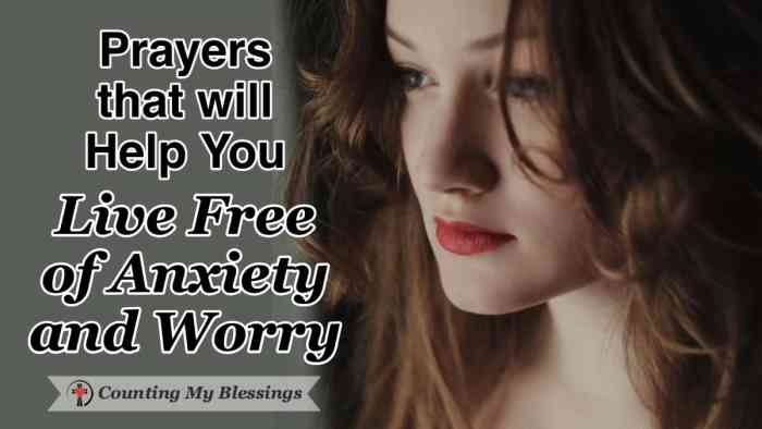It's a blessing God has given us that we can take our worries and cares to Him in prayer and live free of anxiety ... He even gives us the words in Scripture. #Prayer #VersestoPray #DoNotFear #WWGGG #CountingMyBlessings