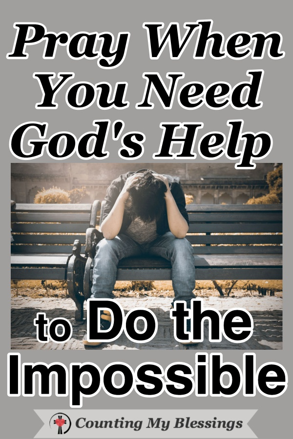 It's hard to fight our giants and do the impossible on our own. We need God's help ... so I'm praying God's promises and asking Him for courage and strength. #Prayer #ImpossibleMission #Faith #PrayforStrengthandCourage #CountingMyBlessings #WWGGG