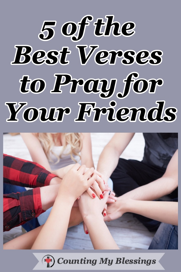 Praise God for the people who walk beside us, pull us along, and even nudge us from behind. Oh, the blessing of finding Scripture to pray for your friends... #Friendship #Prayer #WWGGG #BlessingBloggers #HisGraceGirls