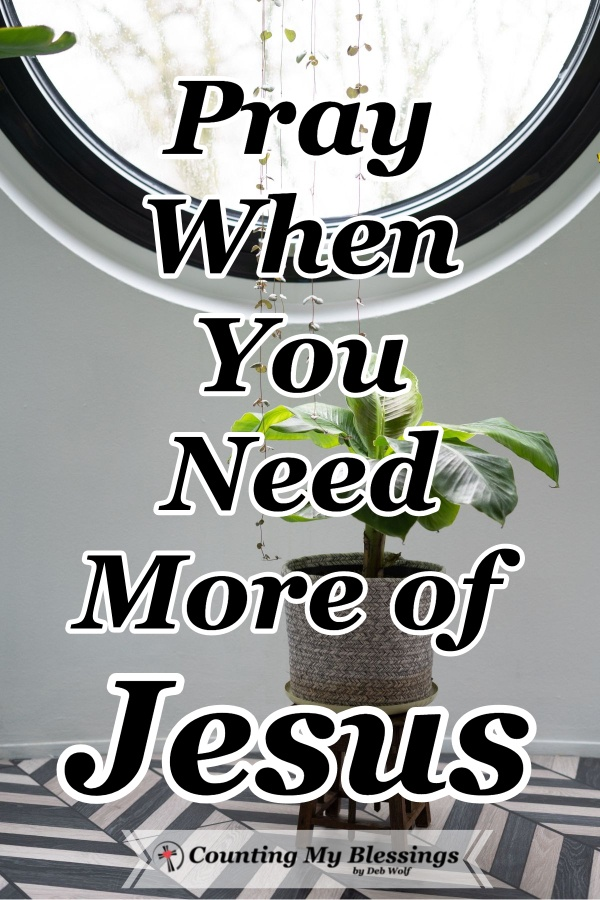 When I'm tired. When is out of control. When everyone and everything has gotten on my last nerve. When I discouraged . . . I need more of Jesus. #Jesus #Hope #Faith #Prayer #CountingMyBlessings #WWGGG