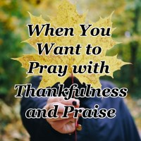 When You Want to Pray with Thankfulness and Praise