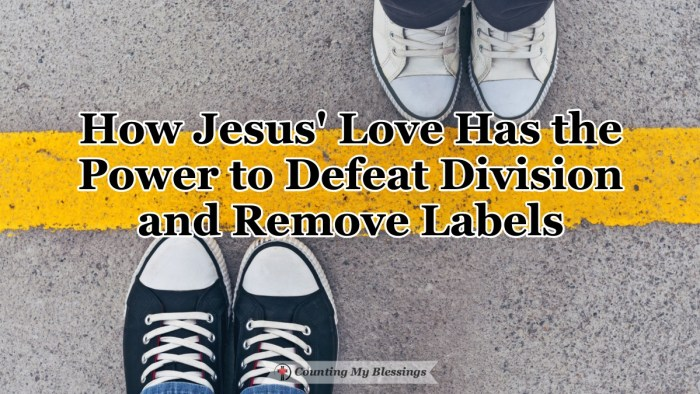 We are living at a time when there are people who want to label us by groups to divide but Jesus came to defeat division and unite us with His love. #Unity #Equality #Jesuslovesyou #CountingMyBlessings #WWGGG