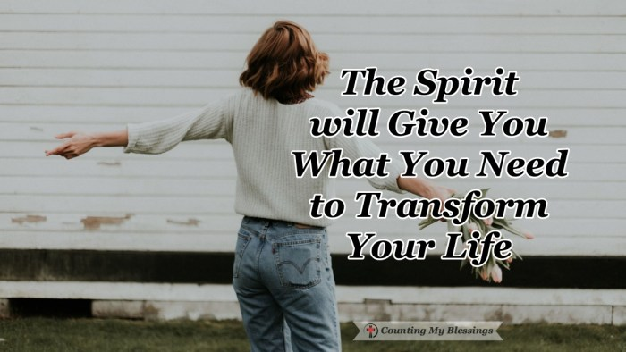 God gave the Holy Spirit and lives were changed. And by God's grace, that same Spirit is available to you through faith and promises to transform your life. Find out more here... #HolySpirit #Faith #BibleStudy #CountingMyBlessings