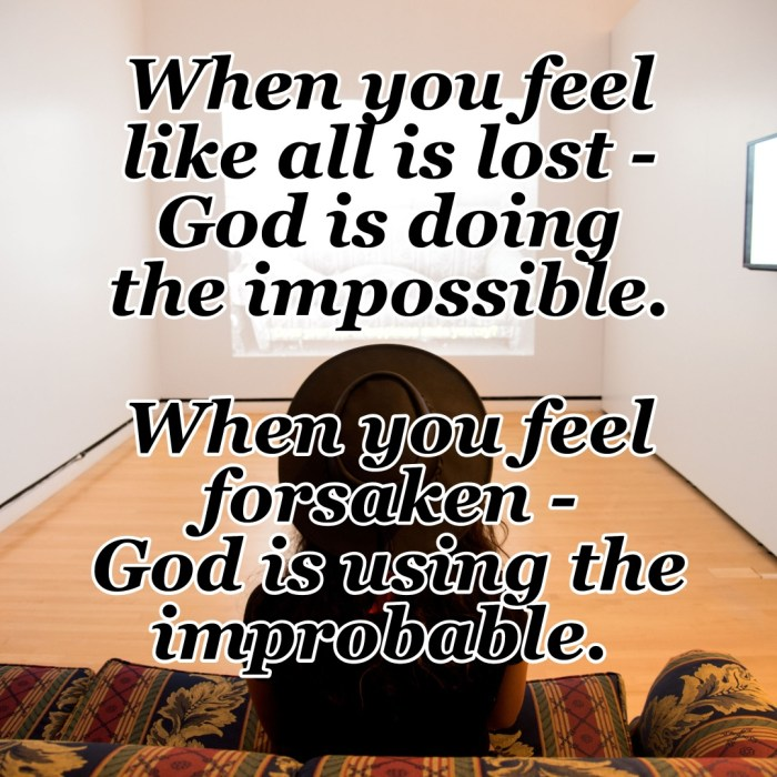 When you and I feel like all is lost - God is doing the impossible. When we feel forsaken - God is using the improbable. He is Lord over All! He is I AM! #Prayer #Possible #Rejection #Blessings #CountingMyBlessings