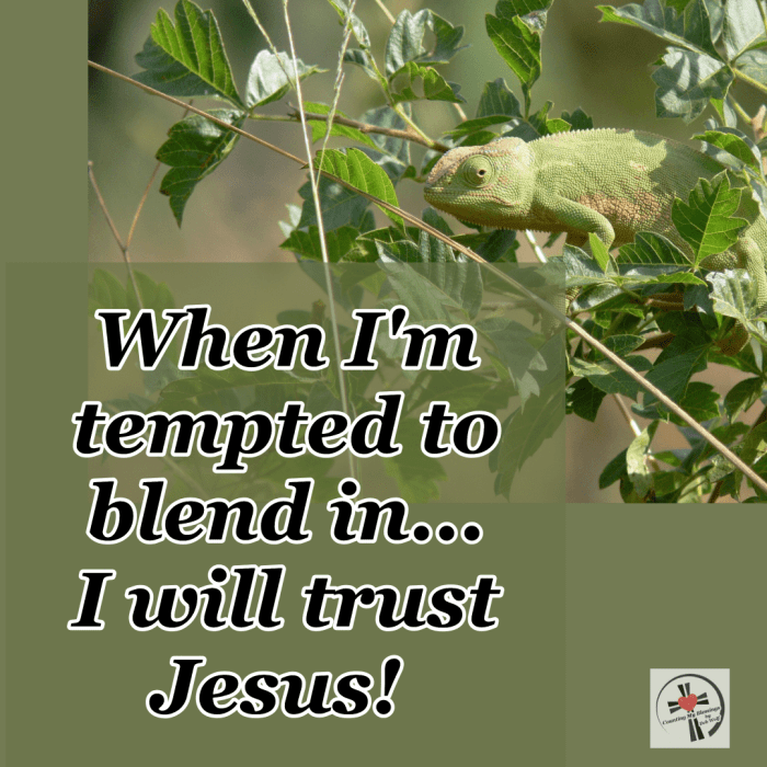 The Bible says the message of the cross is foolishness to the world. When we are tempted to blend in we need wisdom and strength to trust Jesus.  #Faith #BibleQuotes #Prayer #BlessingBloggers