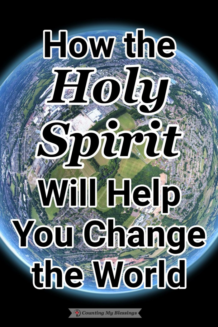 It's easy to see all that's wrong but if we really want to change the world, we need to share the love of Jesus through the power of the Holy Spirit. #HolySpirit #PowerofGod #WorldPeace #Blessings