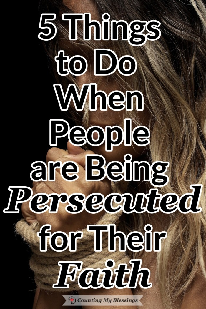 Around the world, people are being persecuted for their faith. Many are feeling anxious but what if there are some better things we can do.  #Persecution #Faith #BibleStudy #Blessings
