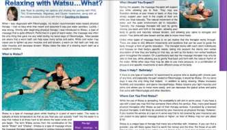 Water Therapy for Fibromyalgia: Watsu Has Me Feeling Groovy