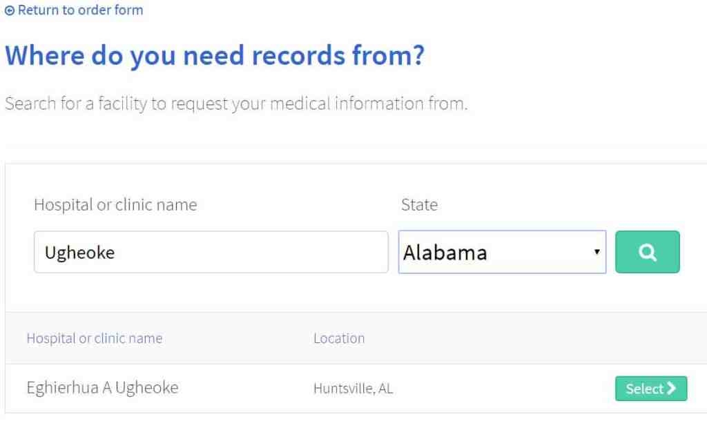 Step 3: Requesting your medical records with PatientBank