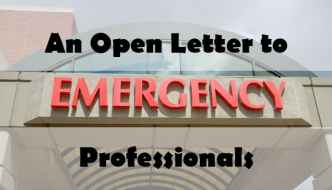 An Open Letter to ER Professionals