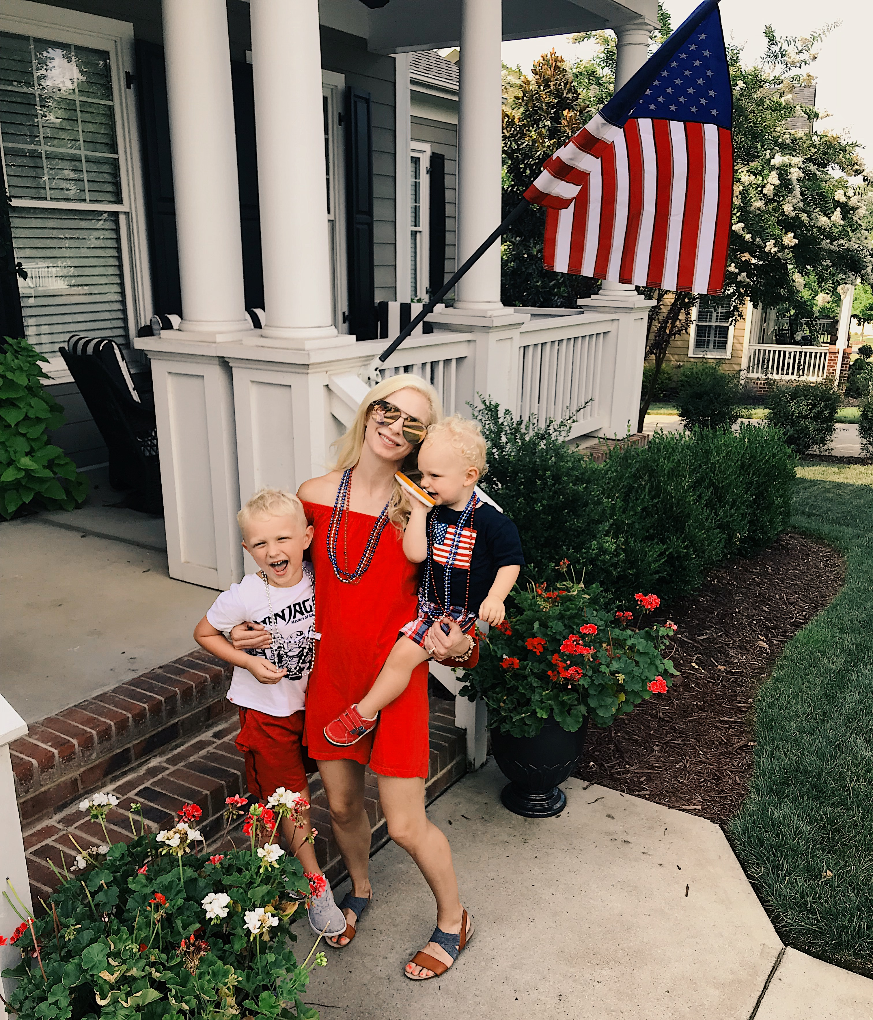 Chelsea Charles with Camden and Brody via Count Me Healthy blog