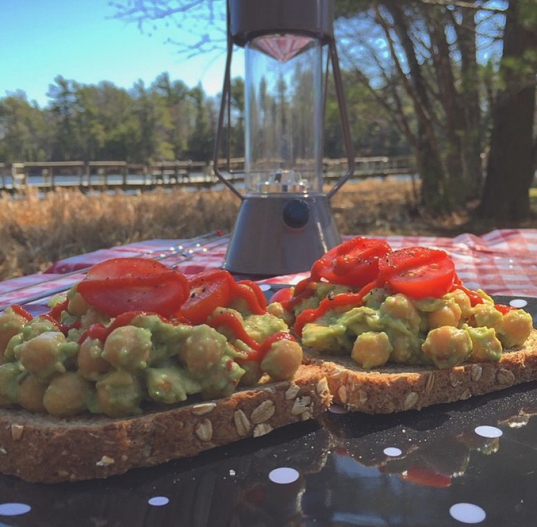 Chickpea and Avocado Salad by Natalie Jackson via Count Me Healthy