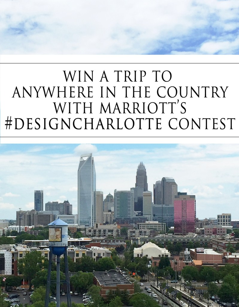 #designcharlotte contest with Marriott via Count Me Healthy