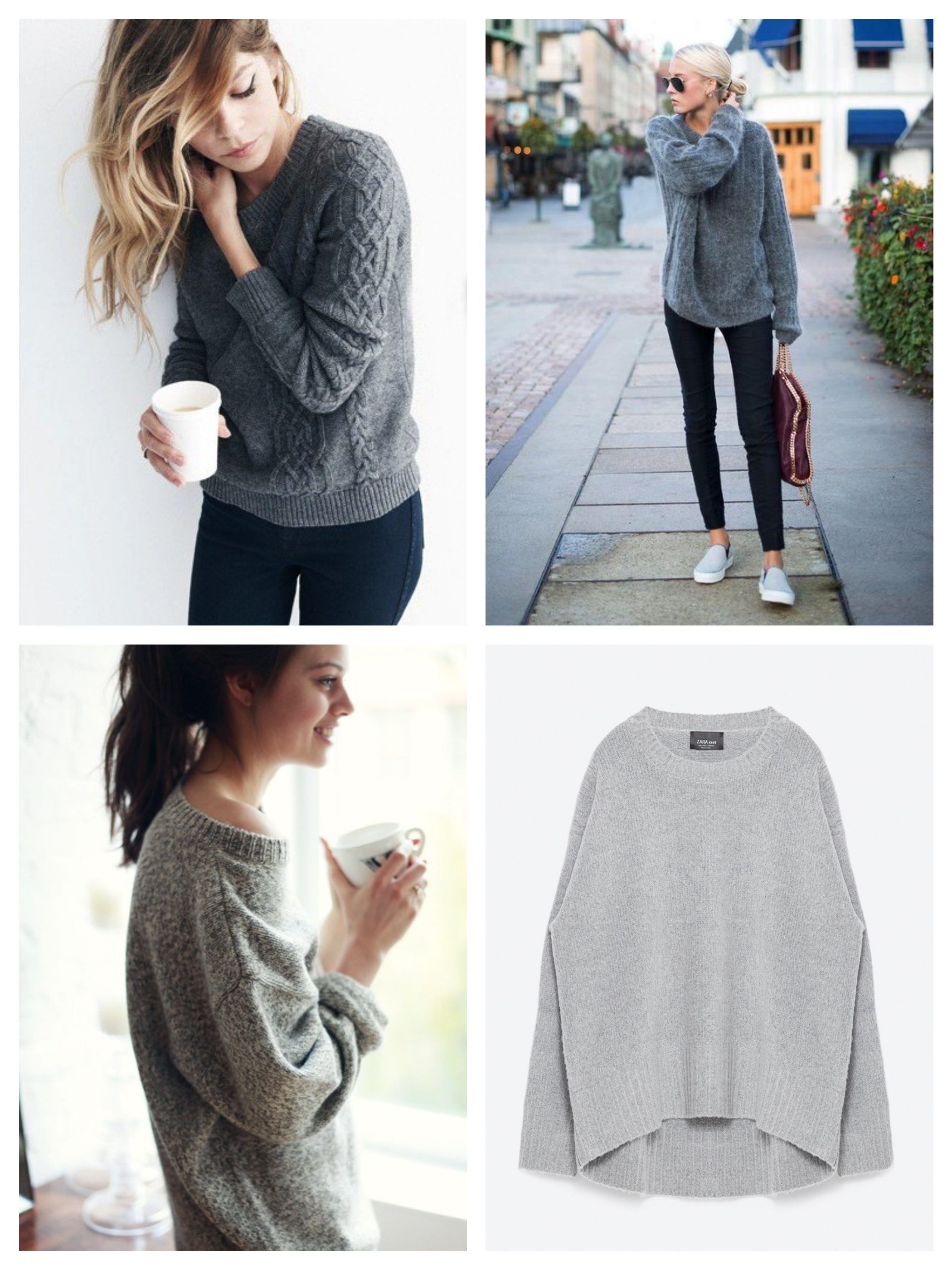 oversized sweaterZara_Fotor_Collage