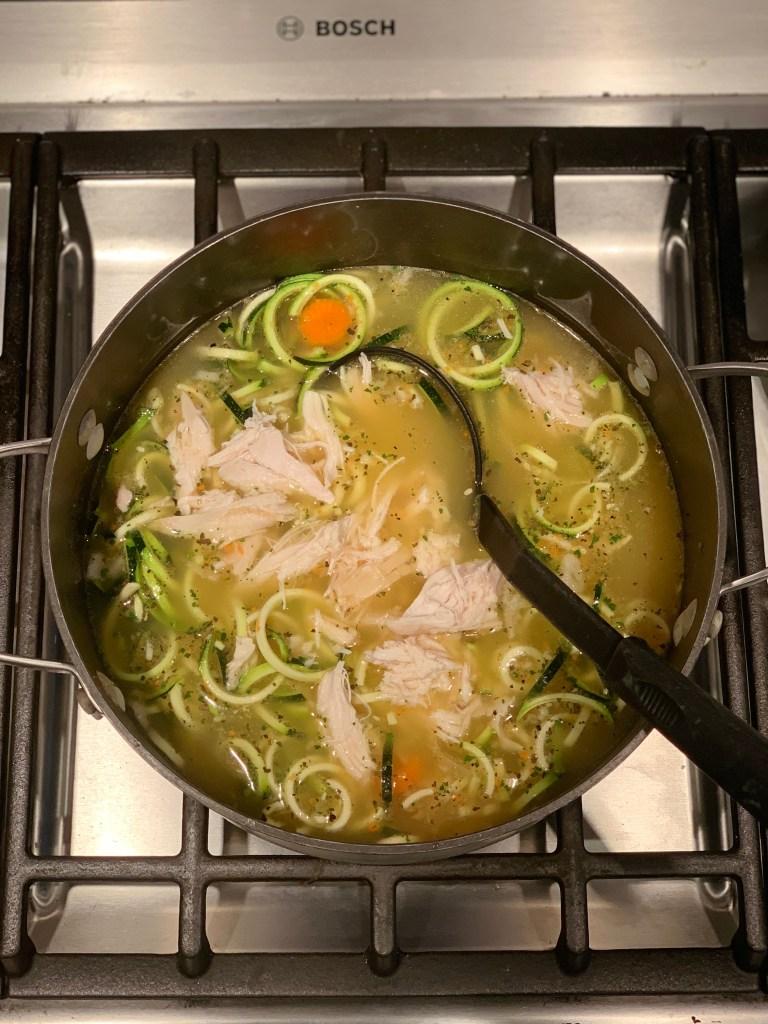 Paleo chicken zoodle soup