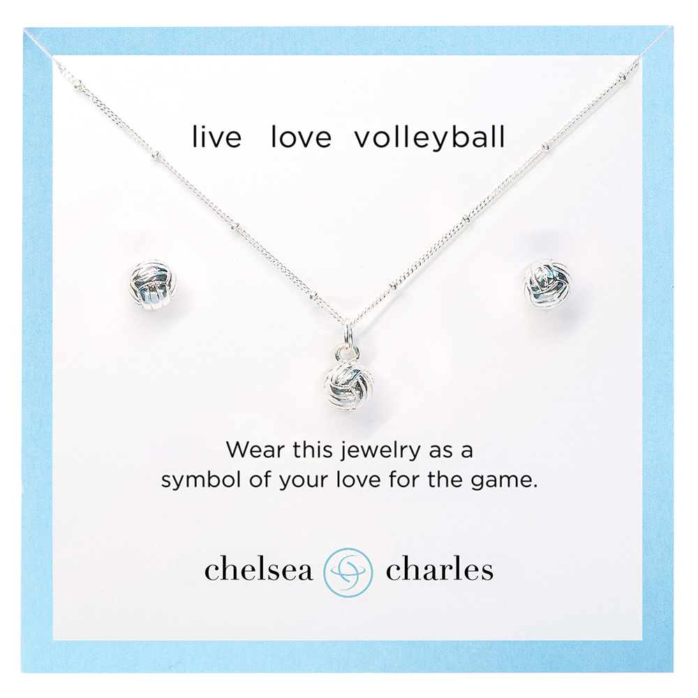 CC Sport Volleyball Jewelry. Pretty sports jewelry by Chelsea Charles
