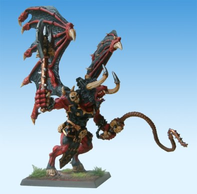 The silhouette of the Bloodthirster is one of the most recognisable of all Warhammer models