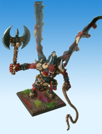 The base of the Bloodthirster features a puddles of blood