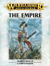 Front image of the Warscroll for Warhammer Armies: The Empire