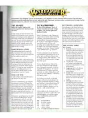 The full rule set for Warhammer: Age of Sigmar. Notice how slim the rule set is? Only four pages!