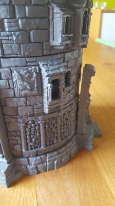 Games Workshop Witchfate Tor, large gap between butress and tower