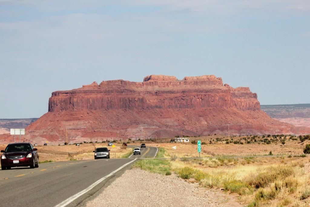 Paysage de Mesas, vers Monument Valley