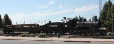 Flagstaff, locomotive en décor à la gare