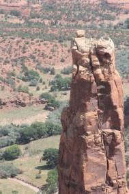 Le haut de Spider Rock