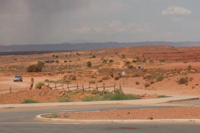 Monument Valley, l'orage menace