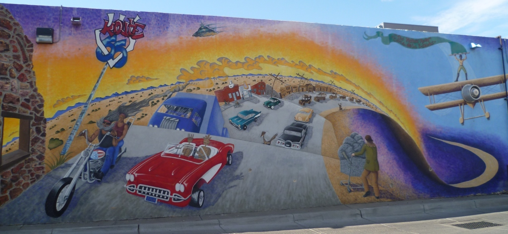 Fresque en hommage à la Route 66