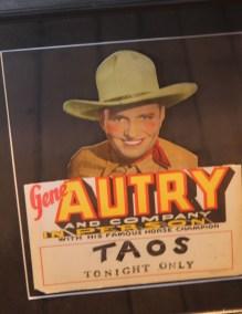 Une ancienne affiche de concert