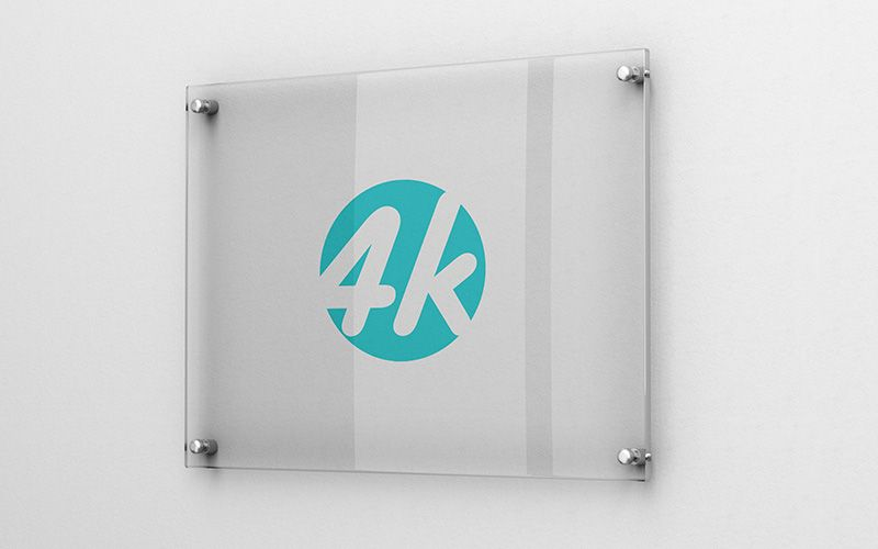 Download Free Logo Mockup Glass Yellowimages