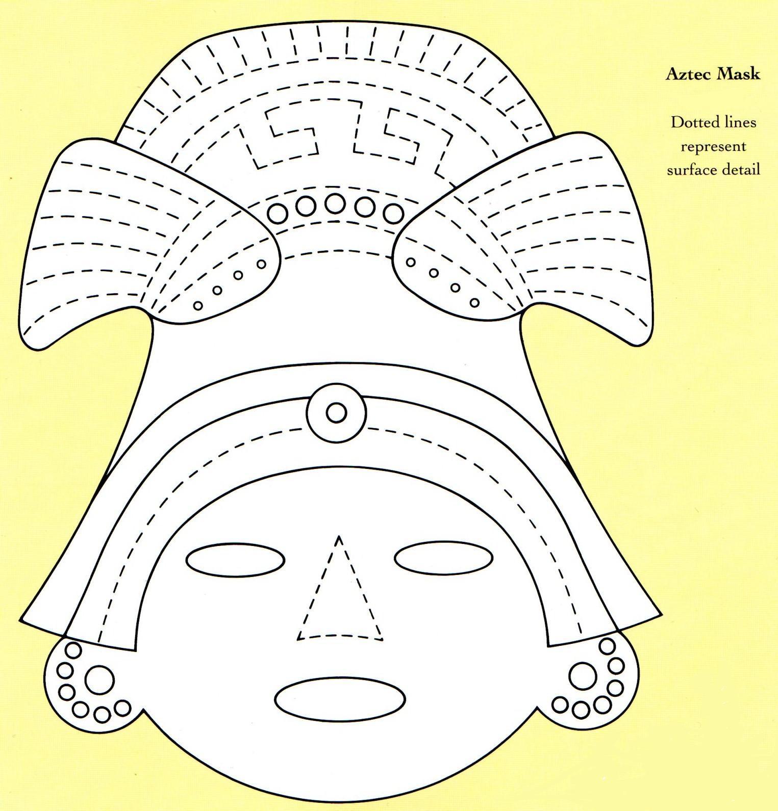 Bread Dough Aztec Mask