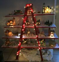 Christmas Tree Decorating Idea Ladder Display Shelf ...