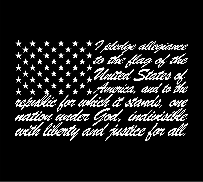 Pledge Of Allegiance American Flag Vinyl Decal Sticker