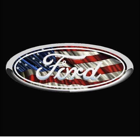 Ford Emblem American Flag Vinyl Decal Sticker Ford Truck