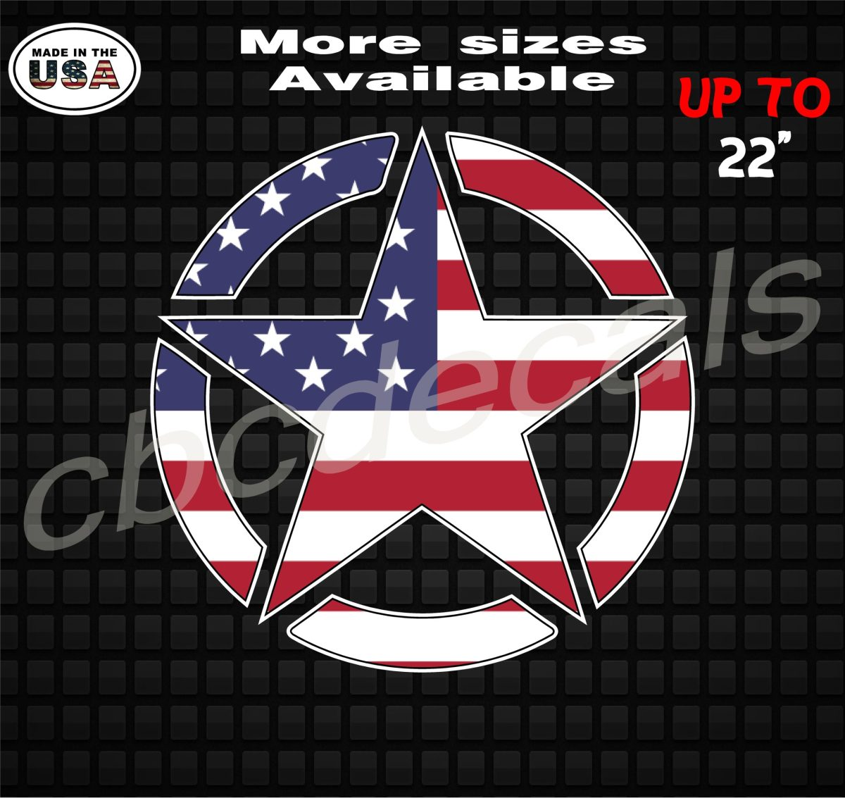 jeep flag star american decals stickers decal wrangler country boy store