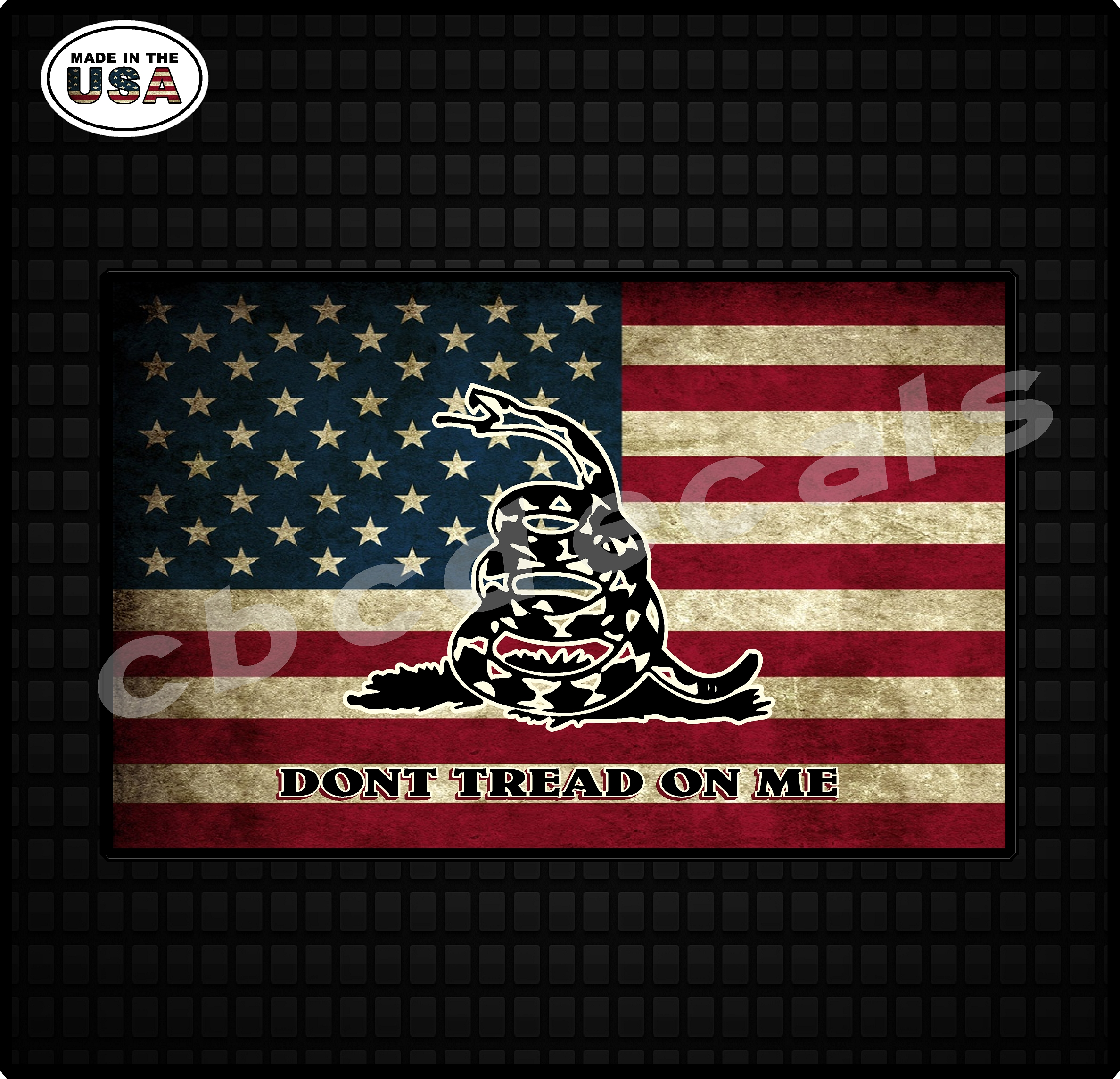 Don/'t Tread On Me Decal