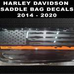 2014 2020 Harley Davidson Search And Rescue Ultra Classic Limited Street Glide Road Glide Saddlebag Thin Orange Line Police American Flag Decal 24 99 44 99 Country Boy Customs Store