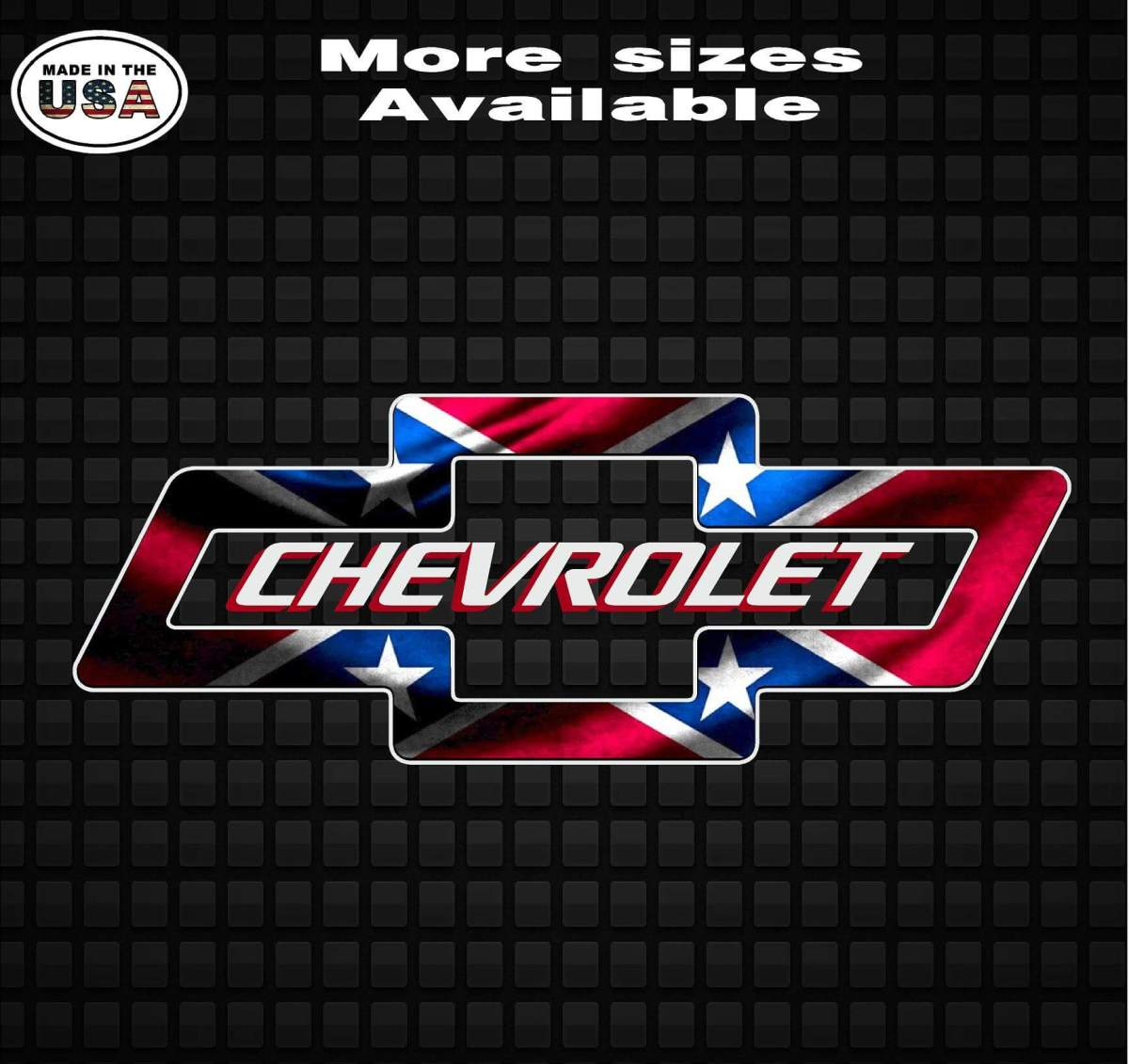 Chevy Bowtie Rebel Flag Confederate Flag Vinyl Decal