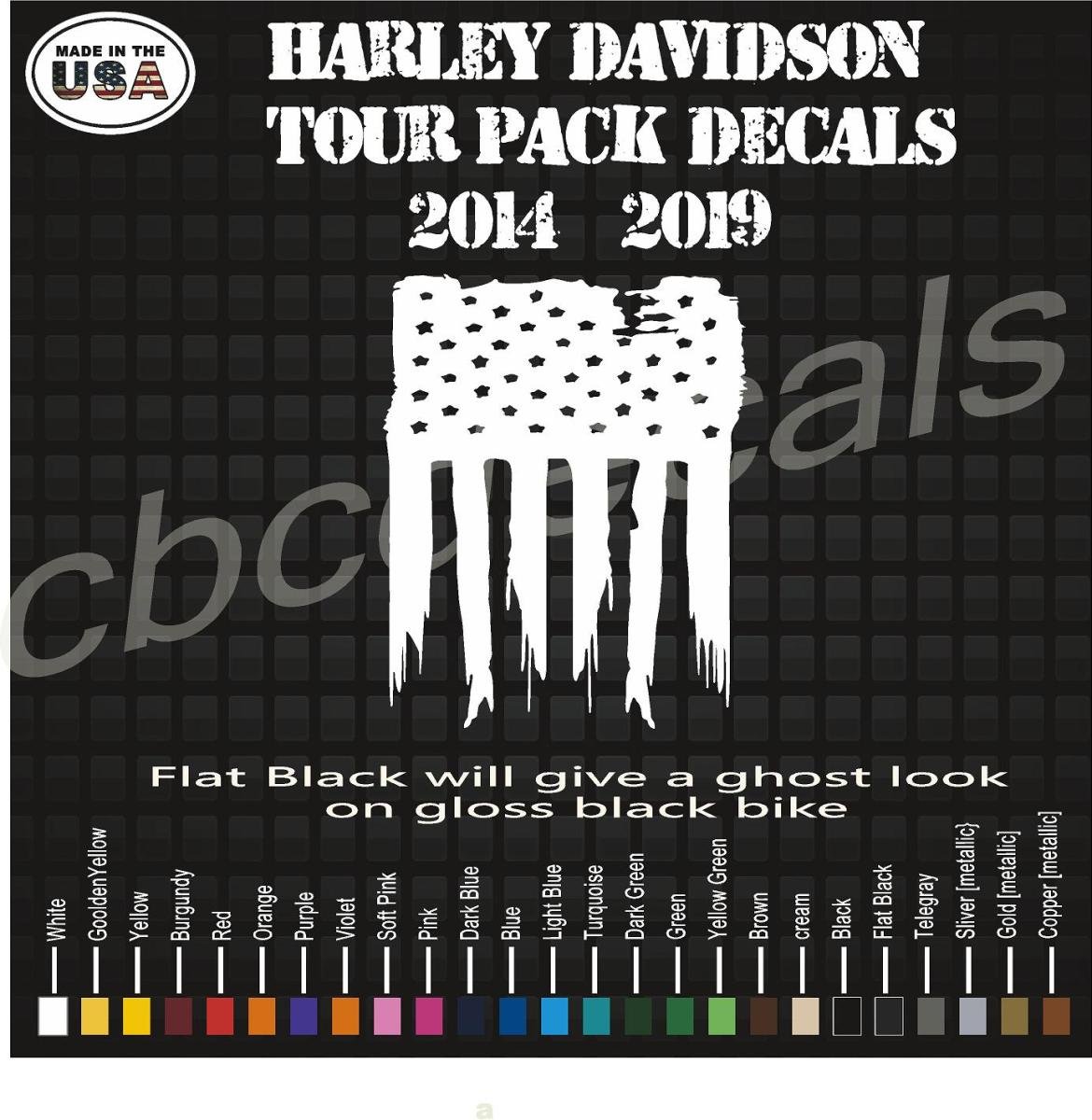 2014 – 2020 Harley Davidson King Tour Pack American Flag ...