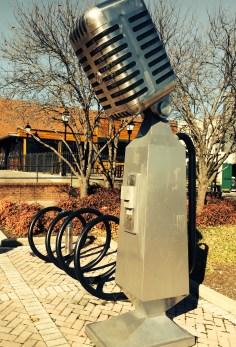 Microphone Bike Rack