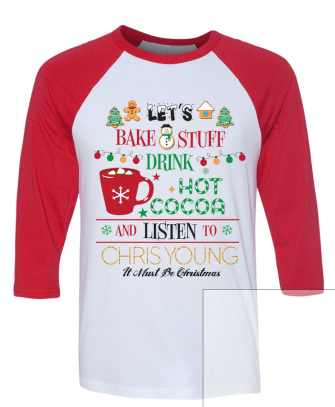 chris young christmas tee