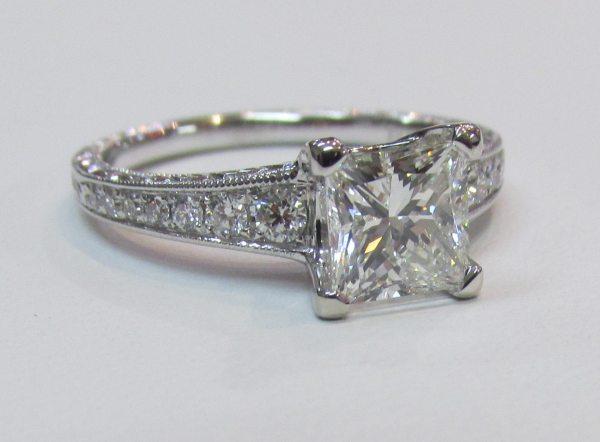 1.20 Carat Princess-cut Diamond Vs2 Gia 18k White Gold