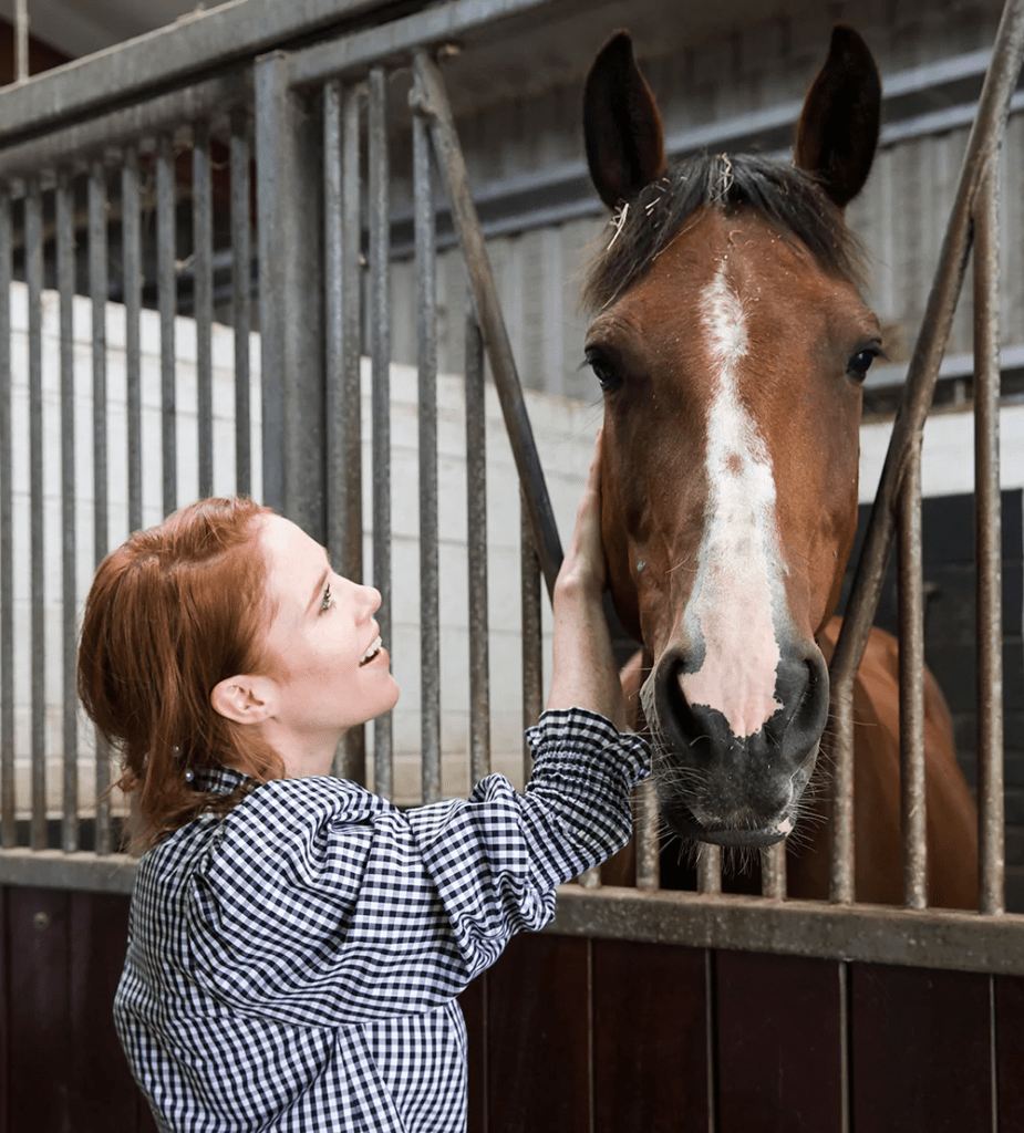 Angela Scanlon at Country Cottage Stables