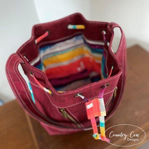 Deyjon Drawstring Bucket Bag by Country Cow Designs