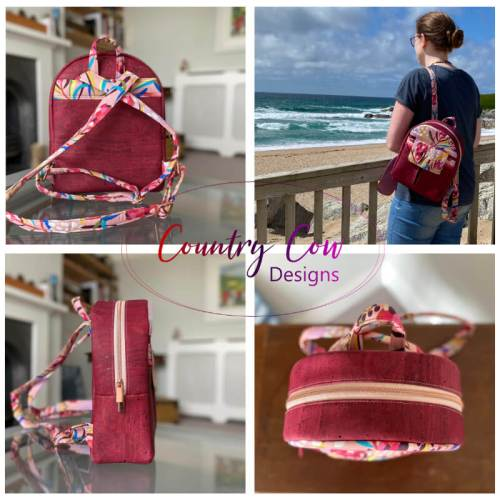 Rounded Top Trekoda Mini Backpack Made by Country Cow Designs