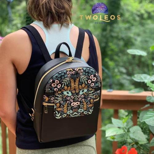 Rounded Top Trekoda Mini Backpack Made by Two Leos Design