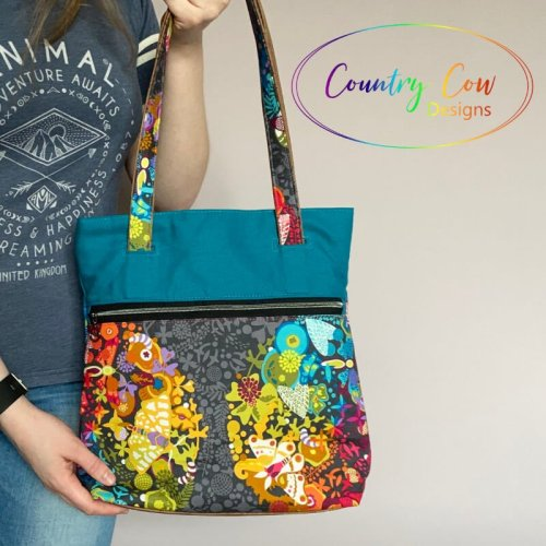 Wanderlust Tote by Country Cow Designs