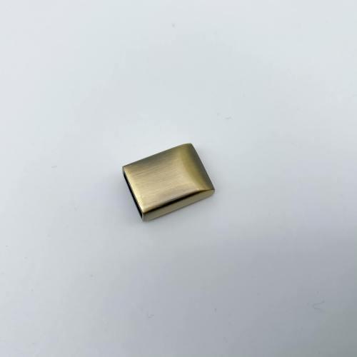 Brushed Brass Zipper End